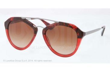 Prada CINEMA' PR12QS Single Vision Prescription Sunglasses PR12QS-RO01Z1-54 - Lens Diameter 54 mm, Frame Color Red Havana Grad Red
