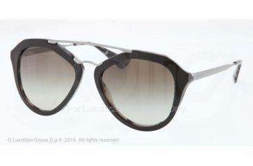 Prada CINEMA' PR12QS Single Vision Prescription Sunglasses PR12QS-ROK4M1-54 - Lens Diameter 54 mm, Frame Color Top Black/white Havana