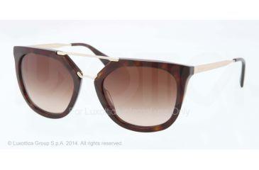 Prada CINEMA' PR13QS Single Vision Prescription Sunglasses PR13QS-2AU6S1-54 - Lens Diameter 54 mm, Frame Color Havana