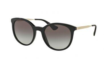 340dabbcdc3 Prada CINEMA PR17SSF Sunglasses 1AB0A7-55 - Black Frame