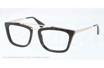Prada CINEMA PR18QV Eyeglass Frames 1AB1O1-51 - Black Frame