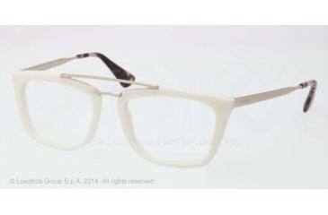 Prada CINEMA PR18QV Eyeglass Frames 7S31O1-51 - Ivory Frame