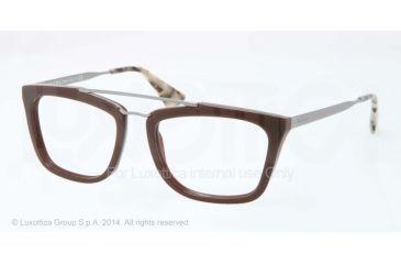 Prada CINEMA PR18QV Eyeglass Frames DHO1O1-51 - Dark Brown Frame