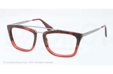 Prada CINEMA PR18QV Eyeglass Frames RO01O1-51 - Red Havana Grad Red Frame