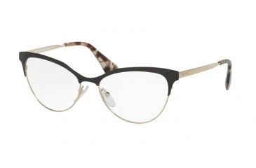 423cfd40e704 Prada CINEMA PR55SV Eyeglass Frames QE31O1-52 - Black pale Gold Frame