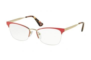 53d0b828e03 Prada CINEMA  PR65QV Single Vision Prescription Eyeglasses PDN1O1-51 -  Fuxia pale Gold