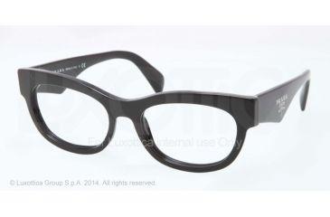 Prada HANDBAG LOGO PR13QV Bifocal Prescription Eyeglasses 1AB1O1-52 - Black Frame