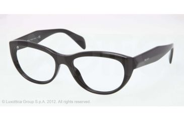 Prada JOURNAL PR01QV Bifocal Prescription Eyeglasses 1AB1O1-52 - Black Frame
