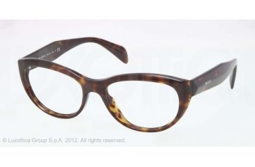 Prada JOURNAL PR01QV Bifocal Prescription Eyeglasses 2AU1O1-52 - Havana Frame