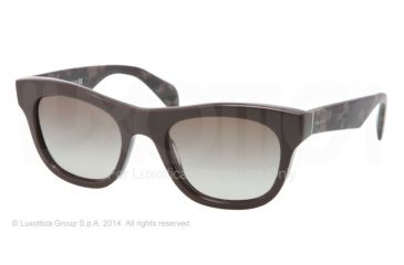Prada JOURNAL PR04QS Bifocal Prescription Sunglasses PR04QS-DHO4M1-52 - Lens Diameter 52 mm, Frame Color Dark Brown