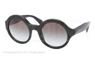 Prada JOURNAL PR06QS Sunglasses 1AB0A7-51 - Black Frame, Gray Gradient Lenses