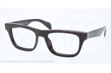 Prada JOURNAL PR09QV Bifocal Prescription Eyeglasses 1AB1O1-52 - Black Frame