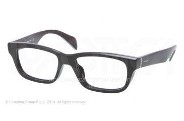 Prada JOURNAL PR11QV Eyeglass Frames 1AB1O1-52 - Black Frame