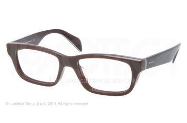 Prada JOURNAL PR11QV Eyeglass Frames DHO1O1-52 - Dark Brown Frame
