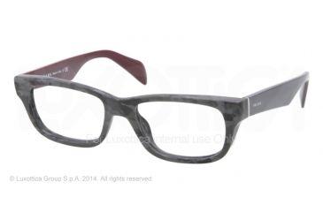 Prada JOURNAL PR11QV Eyeglass Frames DHP1O1-52 - Mimetic Matte Black Frame