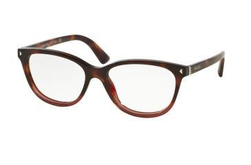 522376e1d0c Prada JOURNAL PR14RV Eyeglass Frames TWC1O1-52 - Red Havana Gradient Frame