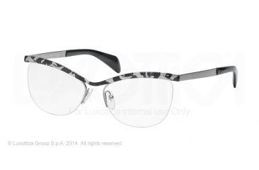 Prada JOURNAL PR64QV Eyeglass Frames KAD1O1-54 - White Havana Frame