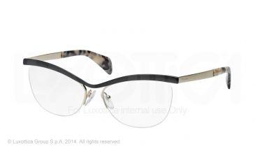 Prada JOURNAL PR64QV Eyeglass Frames QE31O1-54 - Black Frame