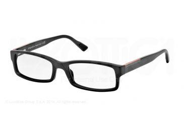 Prada Linea Rosa Eyeglasses PS10AV with No-Line Progressive Rx Prescription Lenses TIQ1O1-52 - Matte Grey Frame