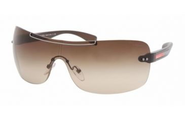 Prada Linea Rosa PS 02MS Sunglasses Styles - Top Mahogany-Demi Matte Moro Frame / Brown Gradient Lenses, BRS6S1-0136