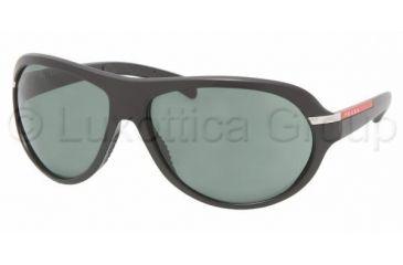 Prada Linea Rosa PS 08IS Sunglasses Styles - Demi-Shiny Black Frame / Green Lenses, 1BO3O1-6515
