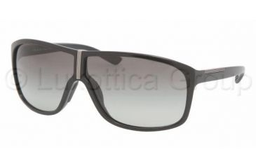 Prada Linea Rosa PS 08LS Sunglasses Styles - Demi-Shiny Black Gray Gradient Frame, 1BO3M1-6907
