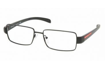 Prada Linea Rosa PS 51AV Eyeglasses Styles - Matte Black+black Rubber Frame w/Non-Rx 54 mm Diameter Lenses, 1BO1O1-5416