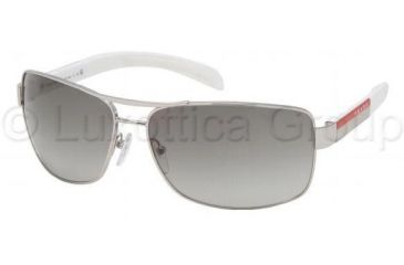 Prada PS54IS Bifocal Prescription Sunglasses PS54IS-1BC3M1-6514 - Frame Color Silver, Lens Diameter 65 mm