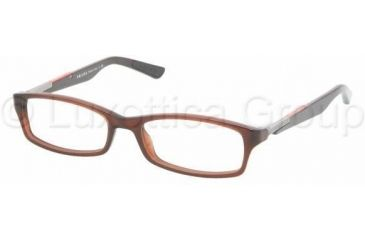 Prada PS03BV Single Vision Prescription Eyewear ACV1O1-5116 - Beaver