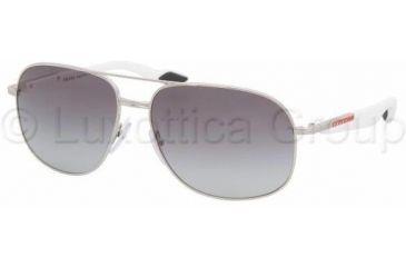 Prada Linea Rossa PS50MS Sunglasses 1BC3M1-6115 - Silver Gray Gradient