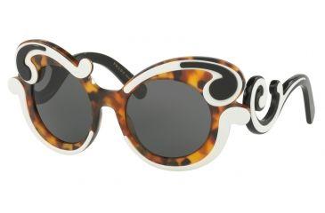 a8df221c7c3c Prada MINIMAL BAROQUE PR23NS Sunglasses VAL1A1-52 - Ivory Havana Frame