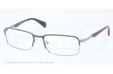 Prada MINIMAL CONCEPT PR61QV Eyeglass Frames OAV1O1-56 - Top Grey/gunmetal Frame