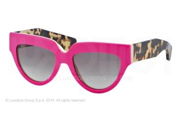 Prada POEME PR29PS Bifocal Prescription Sunglasses PR29PS-SL10A7-52 - Lens Diameter 52 mm, Frame Color Top Fuxia/beige