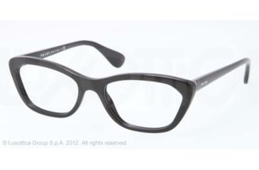 Prada PORTRAIT PR03QV Eyeglass Frames 1AB1O1-52 - Black Frame