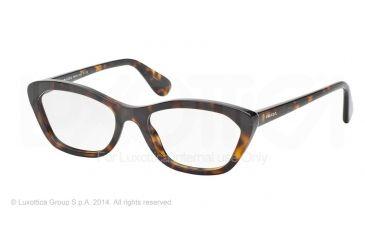 Prada PORTRAIT PR03QV Eyeglass Frames 2AU1O1-52 - Havana Frame