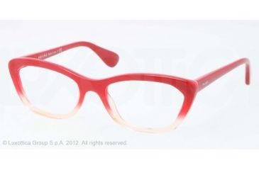 Prada PORTRAIT PR03QV Eyeglass Frames PDO1O1-52 - Red Gradient Pink Frame