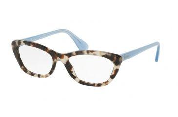 6994891d29f Prada PORTRAIT PR03QV Eyeglass Frames UAO1O1-54 - Spotted Opal Brown Frame
