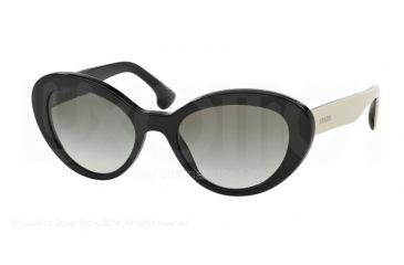 d2df14b6ec55 Prada PORTRAIT PR15QS Sunglasses 1AB0A7-53 - Black Frame, Grey Gradient  Lenses