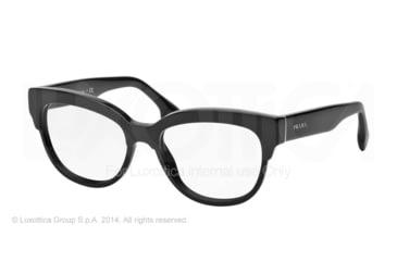Prada PORTRAIT PR21QV Eyeglass Frames 1AB1O1-51 - Black Frame