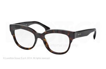 Prada PORTRAIT PR21QV Eyeglass Frames 2AU1O1-51 - Havana Frame