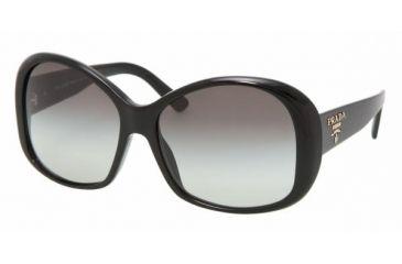 Prada PR 03MS Sunglasses Styles - Gloss Black Gray Gradient Frame, 1AB3M1-5915