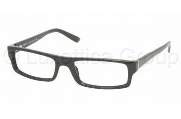 51784a1e0ce Prada PR04MV Progressive Eyeglasses - M silver P black Demo Lens Frame   52