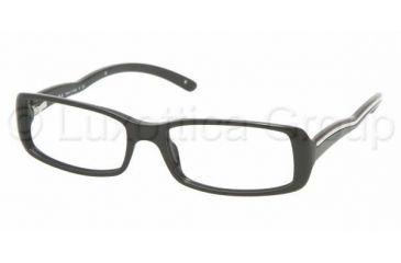 Prada PR 06MV Eyeglasses Styles - Gloss Black Frame w/Non-Rx 51 mm Diameter Lenses, 1AB1O1-5116