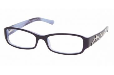 Prada PR 15LV Eyeglasses Styles - Top Violet On Lilac Frame w/Non-Rx 51 mm Diameter Lenses, 7ON1O1-5116