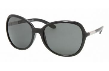 Prada PR25LS Single Vision Prescription Sunglasses PR25LS-1AB1A1-6017 - Lens Diameter 60 mm, Frame Color Gloss Black
