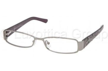 Prada PR58LV SV Prescription Eyeglasses - Shiny Gun Metal Demo Lens Frame / 51 mm Prescription Lenses, 5AV1O1-5114