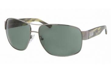 Prada PR 61LS Sunglasses Styles - Gunmetal Frame / Green Lenses, 5AV3O1-6614