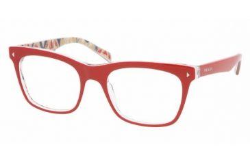 Prada PR01NV #AB01O1 - Top Red Serigraphy Frame, Demo Lens Lenses