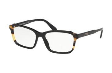 b58ee398c945 Prada PR01VV Eyeglass Frames 3891O1-53 - Black Medium Havana