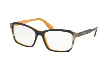 8090bda0903a Prada PR01VVF Progressive Prescription Eyeglasses 30Z1O1-55 - Top  Blue/Yellow/Grey Havana